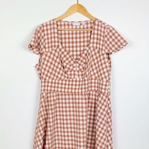 NEW YORK & CO retro fit + flare dress size XL